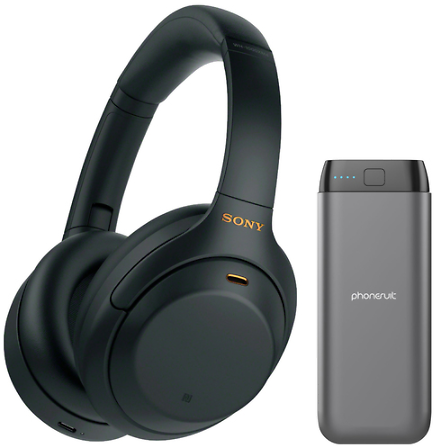 Sony Noise Cancelling Headphones w/ Energy Core Max Power Bank | BuyDig.com