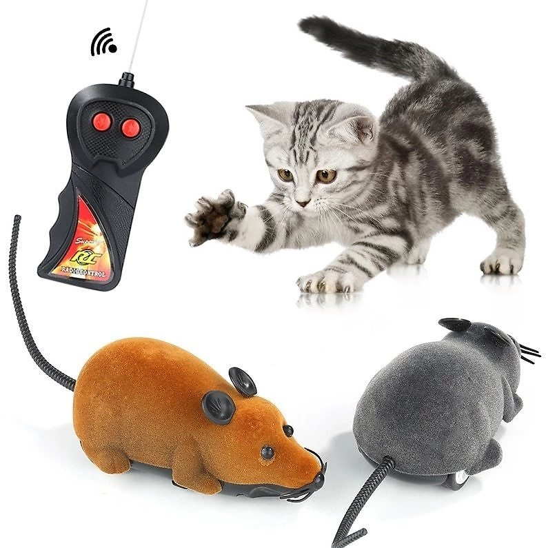 Cats Toy Wireless Remote Control RC Electronic Mouse Mouse Toy Cat Puppy Funny Children Toy Novelty Animal Toy Gift Hot Selling