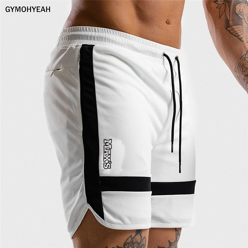 US $8.8 34% OFF|NEW Fitness Sweatpants Shorts Man Summer Gyms Workout Male Breathable Mesh Quick Dry Sportswear Jogger Beach Brand Short Pants|Casual Shorts| - AliExpress