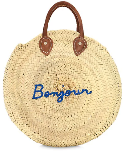 Poolside Oh Hello Large Round Beach Bag
