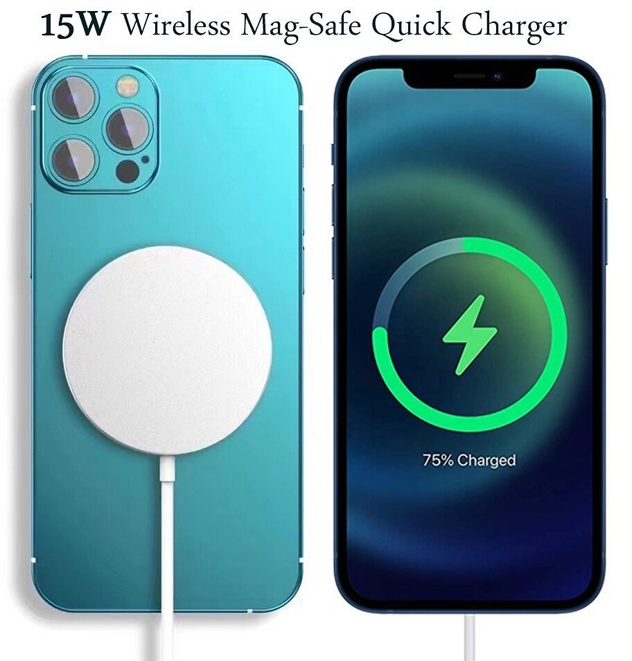 US $18.69 15% OFF|15W Magsafe Wireless Charger For IPhone 12 Pro Max Mini Magnetic Safe Qi Wireless Quick Charging Pad for Huawei Samsung Xiaomi| | - AliExpress