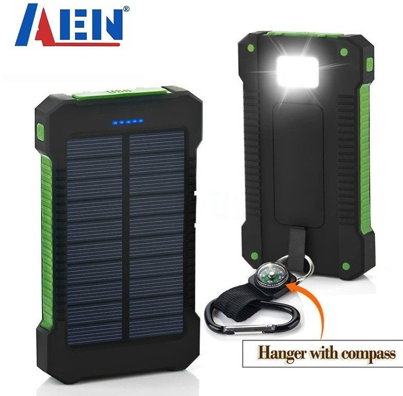 US $10.78 64% OFF|Solar Power Bank Waterproof 50000mAh Solar Charger USB Ports External Charger Powerbank for Xiaomi 5S Smartphone with LED Light|Power Bank| - AliExpress