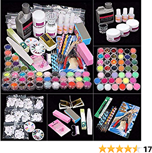 Acrylic Nail Kit, Nail Acrylic Powder and Liquid Set with All in One Nail Art Decoration Tools Professional Manicure Nail Art Tools Kit