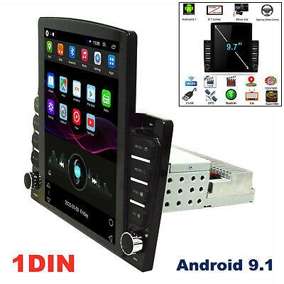 9.7'' 1DIN Android 9.1 Touch Screen GPS WIFI 1G+16G Car Stereo Radio MP5 Player
