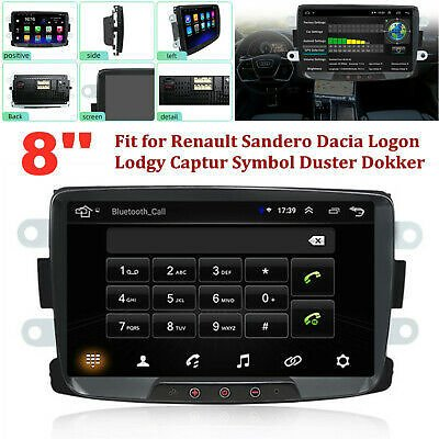 8'' HD Android GPS Navigation Car Radio Video Stereo MP5 Player Fit for Renault