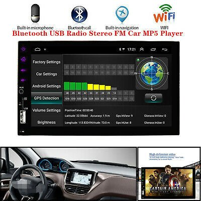 7''HD Touch Screen Android 8.1 Car MP5 Player Bluetooth GPS USB Radio Stereo FM