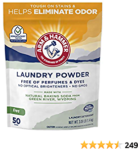 ARM & HAMMER Odor Neutralizing Laundry Detergent Powder (50 Loads), Tough On Stains & Odors, Gentle On Clothes