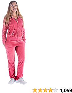 Facitisu Tracksuit for Women Set 2 Piece Joggers Velour Jogging Sweat Outfits Hoodie and Sweatpants Set