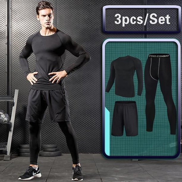 Compression Outdoor Running Sleeve Jacket Pants