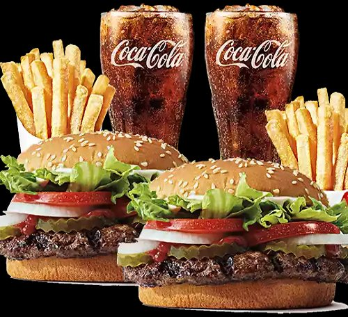 $8.99 Whopper Meal for 2