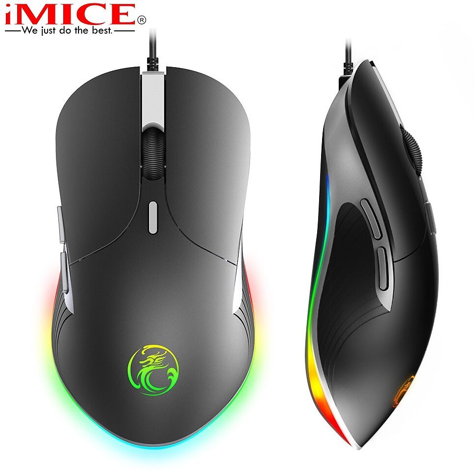 US $11.67 65% OFF|imice X6 X7 USB Wired Gaming Mouse Optical Mice for Gamer Worker Laptop Computer Deaktop Game RGB Upgrade 6400 DPI 7 Keys ABS|Mice| - AliExpress