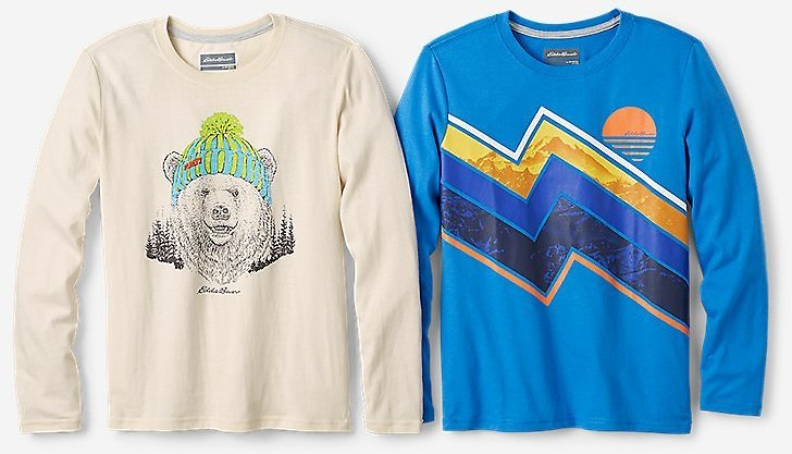 Long-Sleeve Graphic T-Shirt - 2-Pack