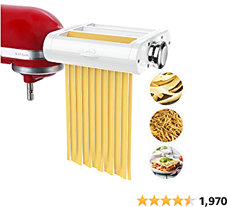 Pasta Maker Attachment 3 in 1 Set for KitchenAid Stand Mixers Included Pasta Sheet Roller, Spaghetti Cutter