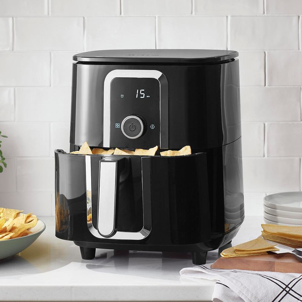 ARIA Ceramic Air Fryer with Accessories and Recipe Book