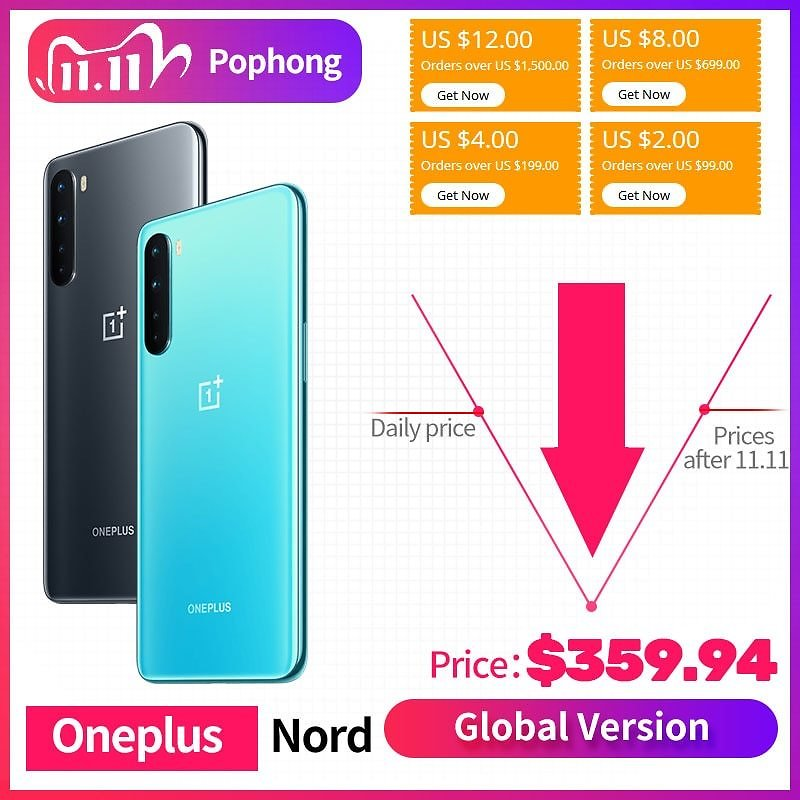 US $390.18 24% OFF|STOCK 24 HOURS FAST SHIP Global Version OnePlus Nord 5G Mobile Phone 6.44 Inch Fluid AMOLED Snapdragon 765G 48MP Quad Cameras|Cellphones| - AliExpress