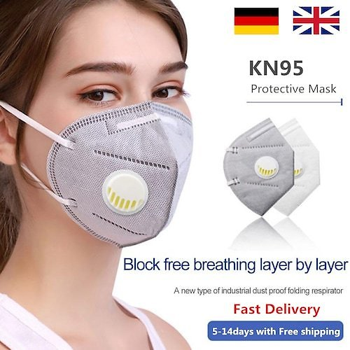 KN95 Face Mask N95 Respirator Dust Non-medical Mouth Masks Safety Earloops Masks