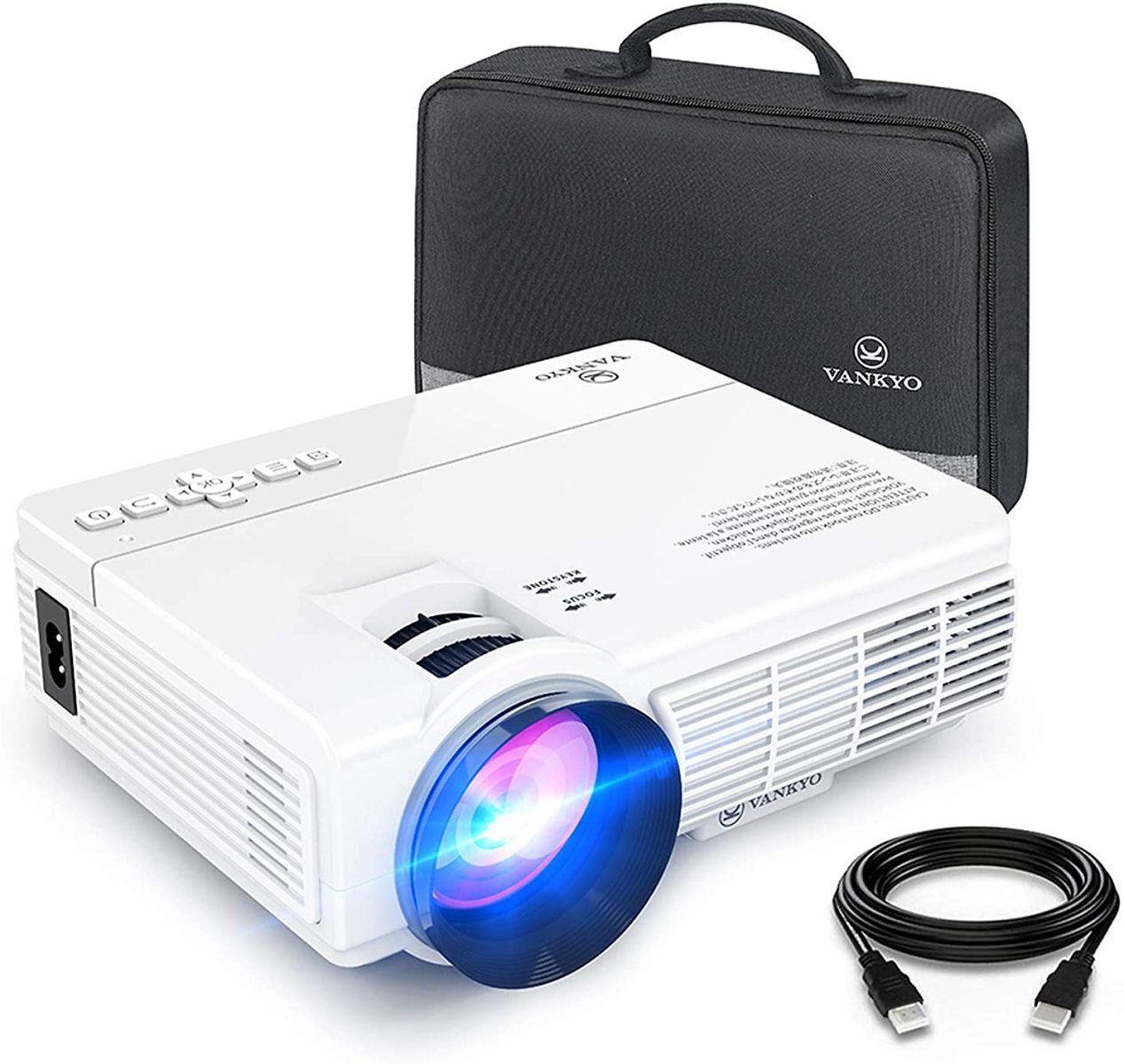 30% Off VANKYO LEISURE 3 Mini Projector, 1080P and 170'' Display Supported, Portable Movie Projector with 40,000 Hrs LED Lamp Li