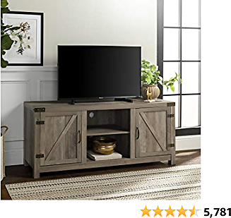 Walker Edison Farmhouse Barn Wood Universal Stand for TV's Up to 64