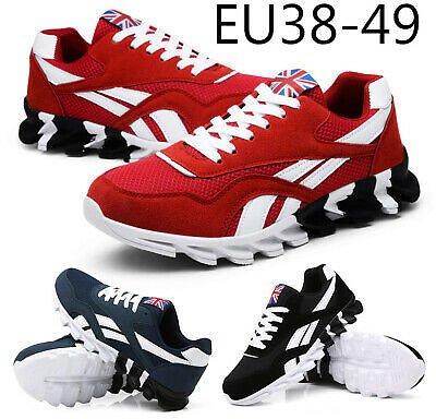 Mens Athletic Running Walking Trainers Lace Up Mesh Casual Shoes Sports Sneakers