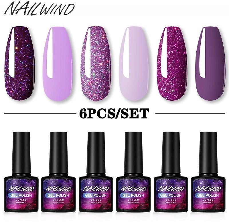 Gel Polish Set 4/6Pcs Hybrid Varnish Soak Off UV Gel LED Semi Permanent All For Manicure Nail Art Gel Polish Kit