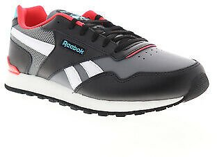 Reebok Classic Harman Run Leather CL Womens Black Lifestyle Sneakers Shoes