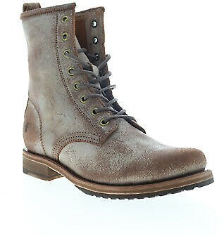 Frye Veronica Combat 70589 Womens Brown Suede Lace Up Casual Dress Boots