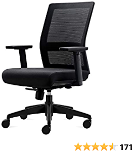 Home Office Task Chair, Ergonomic Executive Desk Rolling Swivel Chair Adjustable Armrests Mesh High Back Computer Chair