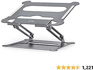 Besign LS05 Aluminum Laptop Stand, Ergonomic Adjustable Notebook Stand, Riser Holder Computer Stand Compatible with MacBook Air Pro, Dell, HP, Lenovo More 10-15.6