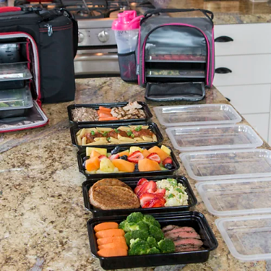 Meal Prep Single Compartment 10 Container Food Storage Set