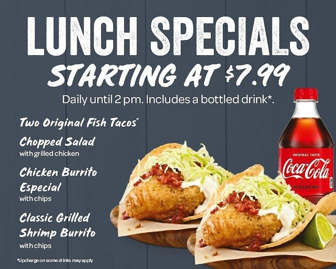 Lunch Specials Starting At $7.99