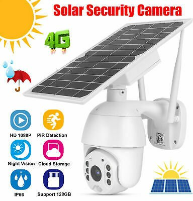 1080P Wireless WIFI 4G SIM Card Solar Powered Outdoor Security CCTV IP Camera SZ