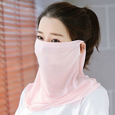 Women Bandana Anti-UV Neck Gaiter Scarf Face Cover Ear Hook Balaclava Trendy