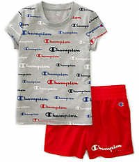 Champion® Girls 4-6x Graphic Print T-Shirt and Shorts Set