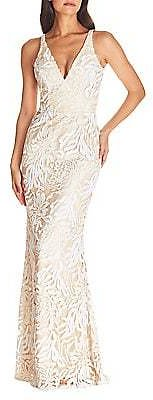 Sharon Embroidered Mermaid Gown