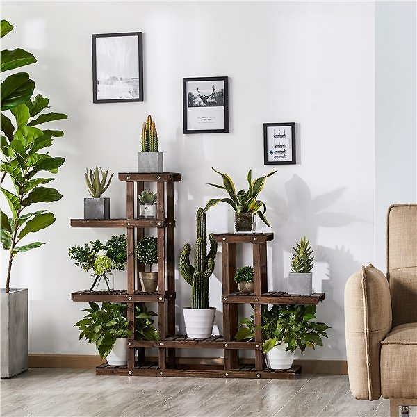 Wooden Flower and Plant Display Stand