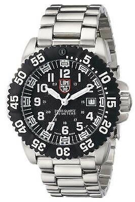SALE 31% OFF Luminox 3152.NV Men's Colormark 3150 Black Dial SS Bracelet Watch 7611382564443