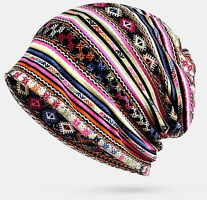 Winter Cotton Multi-purpose Flower Printing Casual Beanie Women's Accessories from Apparel Accessories on Banggood.com
