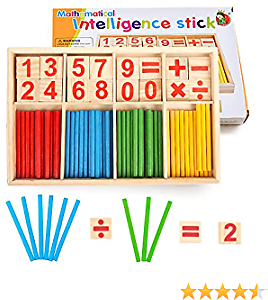 30% Off Yo!Wow Wooden Counting Sticks Colorful Number Rods Math Supplies