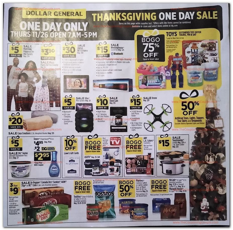 3-Days Dollar General Black Friday Sale 2020 Now Live!