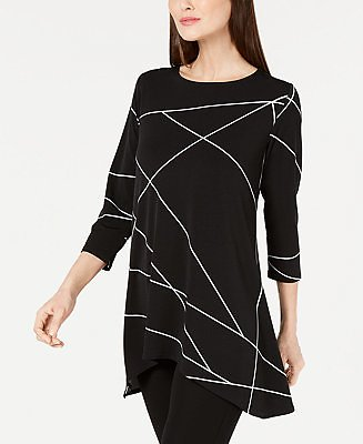 Printed High Low Tunic, Created for Macy's