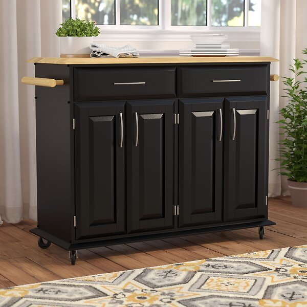 Hamilton Kitchen Cart with Wood Top