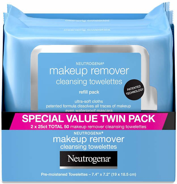2 Pack Neutrogena Makeup Remover Cleansing Face Wipes, 25 Ct. - Big Lots