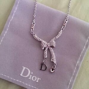 Christian Dior Bow Necklace
