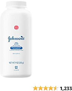 Johnson's Baby Powder for Delicate Skin, Hypoallergenic and Free of Parabens, Phthalates, and Dyes for Baby Skin Care, 9 Oz (Pack of 4)