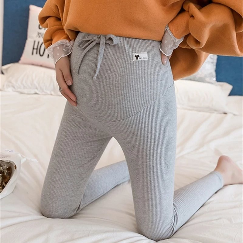 Maternity Pants Soft Slim Adjustable Waist Pregnant Women Leggings Pregnancy Clothes Pants Ropa Mujer Embarazada Premama