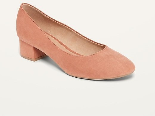 Faux-Suede Mid-Heel Pumps for Women | Old Navy