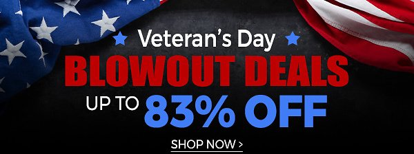 Veteran's Day 83% Discount Offer + Fast FREE Shipping!