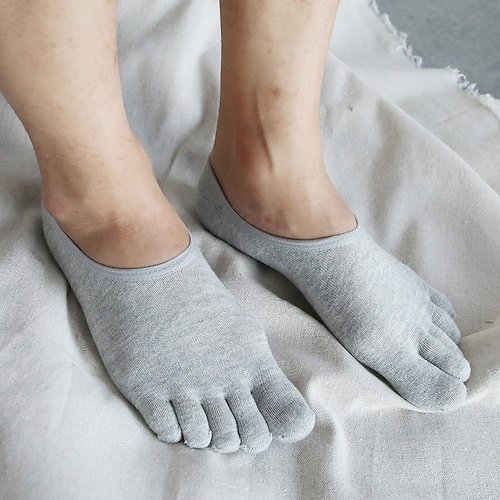 Toe Socks Thin Section M Cotton Socks Invisible Motion Sock Solid Absorbent, Breathable Sock Toe Socks