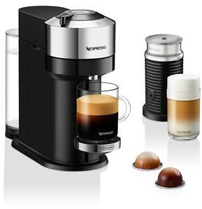 30% OFF | Nespresso Next Deluxe By De'Longhi with Aeroccino Milk Frother, Pure Chrome