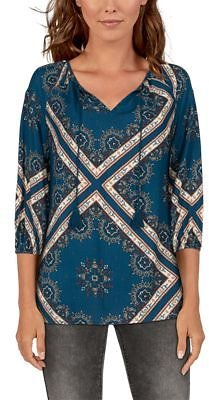 Natural Reflections Three-Quarter-Sleeve Scarf Print Peasant Top for Ladies | Bass Pro Shops
